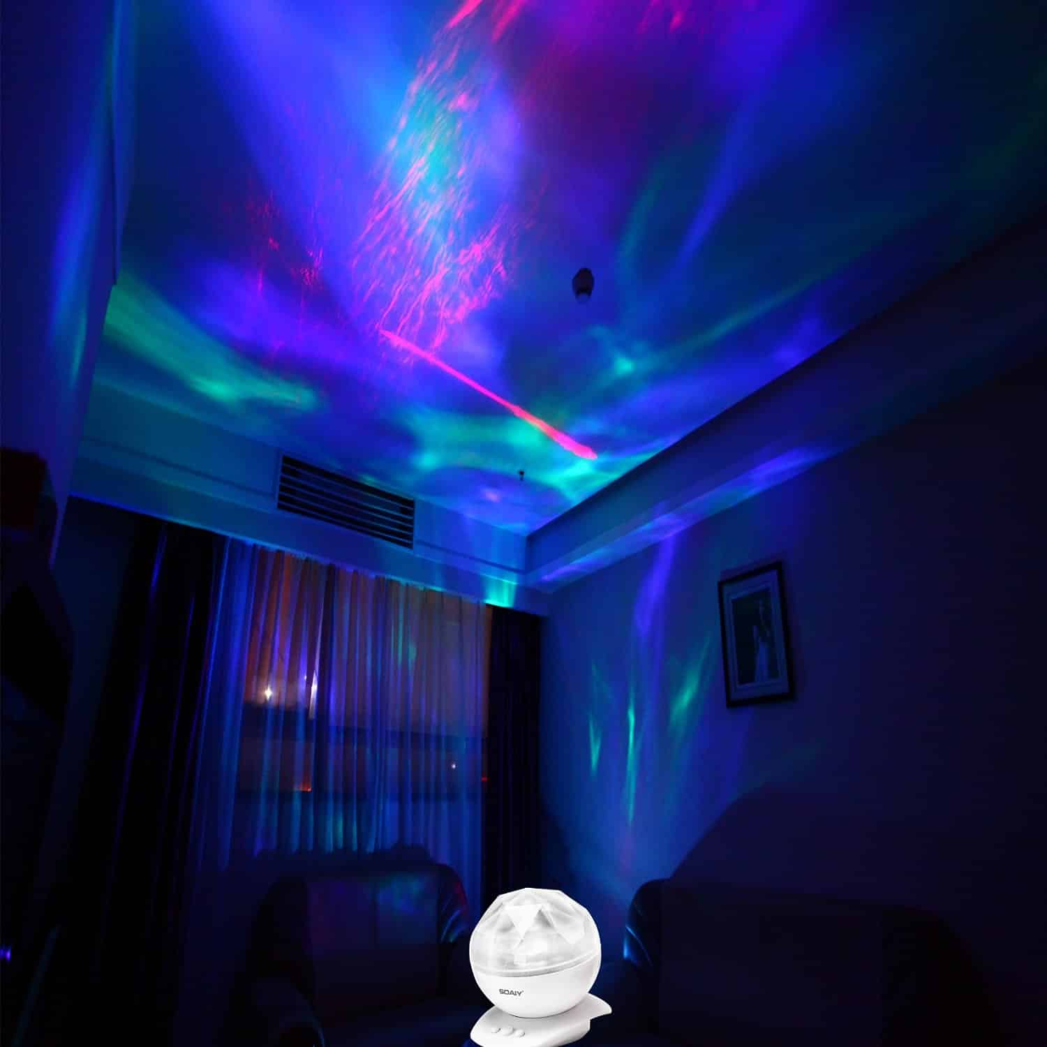Soaiy Color Changing Led Night Light Lamp Realistic Aurora Star