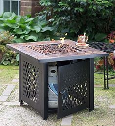 Blue Rhino Gas Outdoor Fireplace with Slate Mantel Reviews and Deals