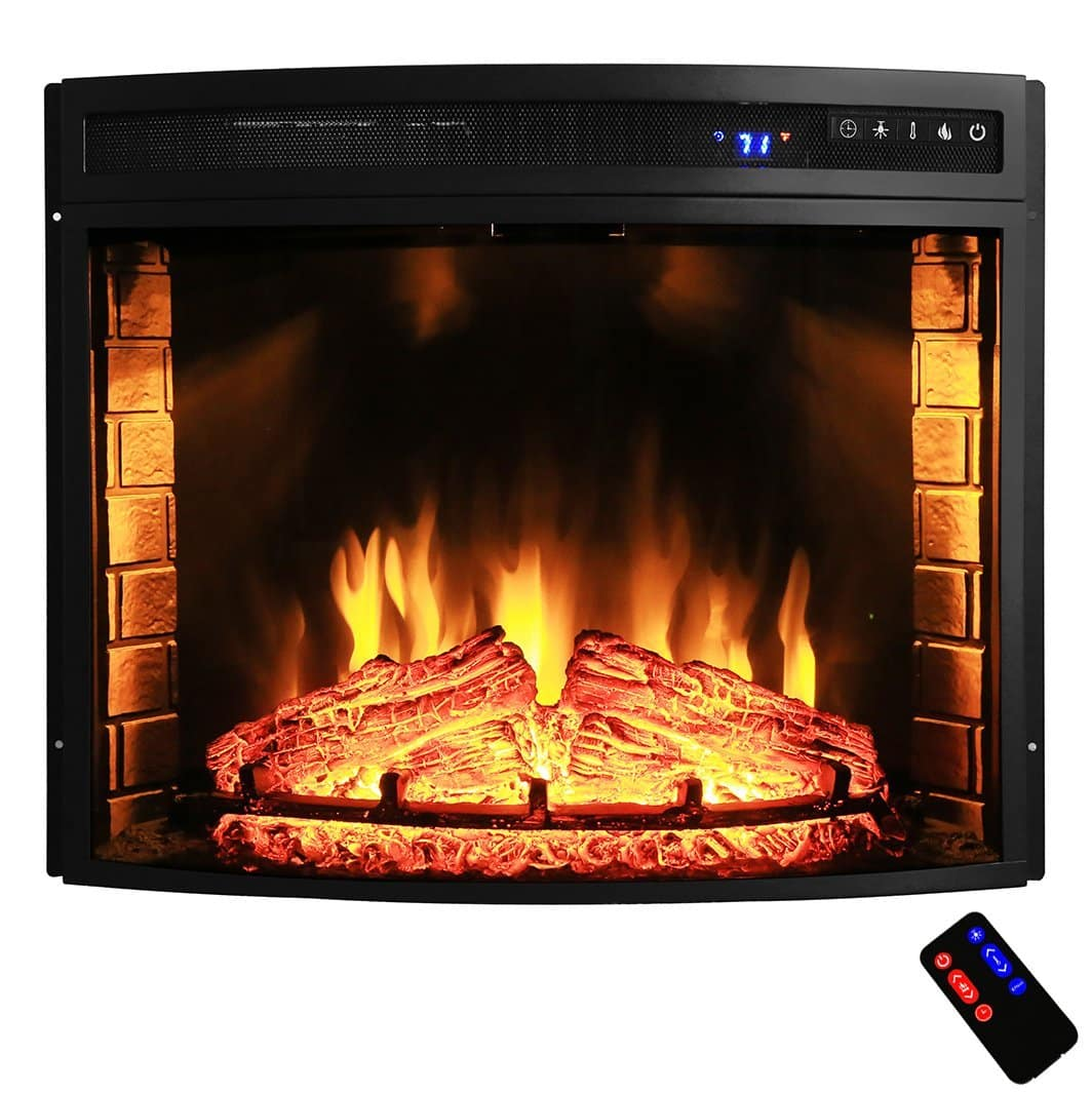 Cool Akdy 28 Black Electric Firebox Fireplace Heater Insert Download Free Architecture Designs Barepgrimeyleaguecom