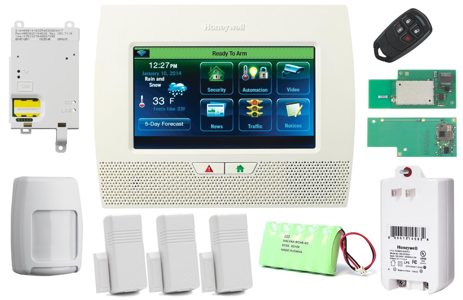 Honeywell Lynx Touch L7000 Wi-Fi Home Security Alarm Reviews,