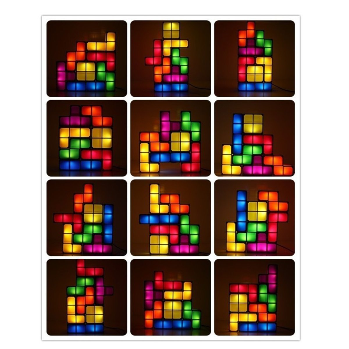 Tetris led puzzle desk lamp reviews and deals tetris puzzle desk lamp led constructible block table decorative stackable night light combos geotapseo Gallery