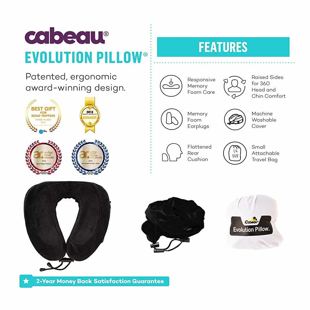 cabeau evolution memory foam travel neck pillow 5 - Cabeau Evolution Pillow