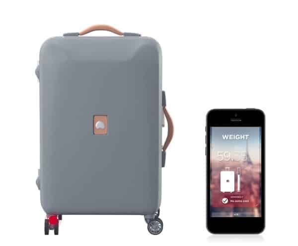 delsey pluggage smart luggage reviews coupons and deals. Black Bedroom Furniture Sets. Home Design Ideas