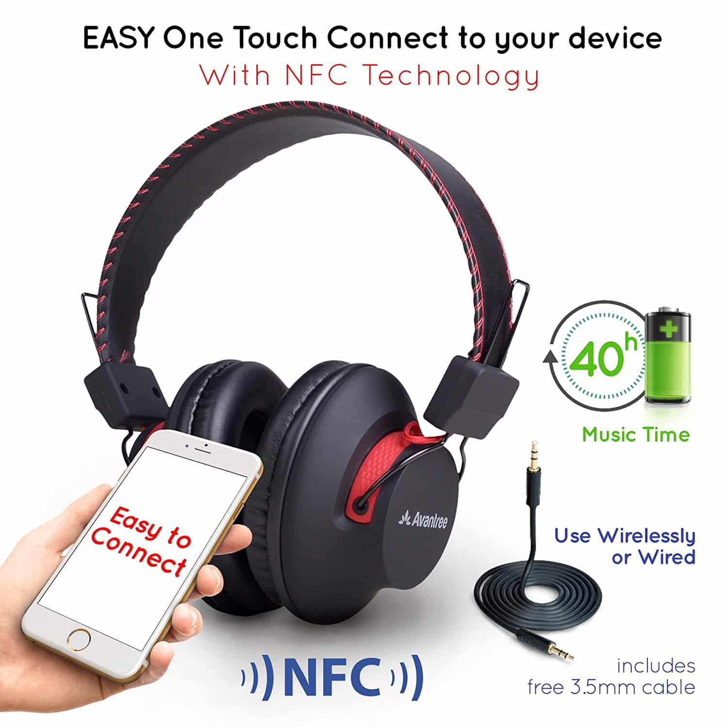 2eb70af90ab Avantree Bluetooth Over-Ear Headphones Reviews, Coupons, and Deals